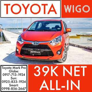 2018 Model Brand New Toyota Wigo!!! ALL-IN LOWEST DP!!! LEGIT SALE!!!  Vios Altis Corolla Yaris Wigo Alphard Hiace Hilux Camry Coaster Land Cruiser LC200 86 Prius