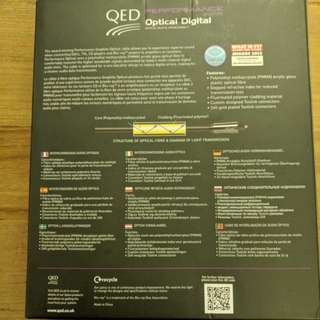 QED Performance Optical Cable 1.5meter (Premium Toslink)