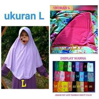 Jilbab Serut Panjang Bahan Kaos