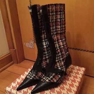 Milan Leather Elegant Boots