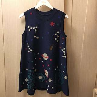 westwood style space print navy blue long top/dress 🚀