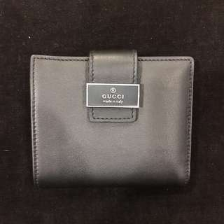 New Gucci Black Leather Wallet
