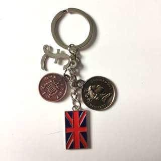 BNEW: British Pounds Keychain