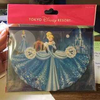日本迪士尼灰姑娘造型便條紙