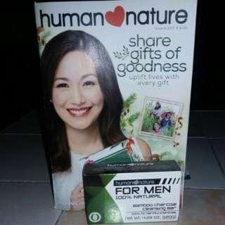 Human Nature Bamboo Charcoal Cleansing Bar