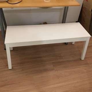 Ikea white bench