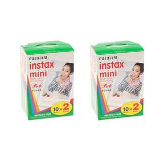 Fujifilm Instax mini Film Twin Pack 2 Boxes (40Pcs Films)