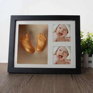 Free casting !!Photo frame for baby hand and foot casting