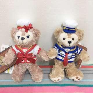 🚚 東京迪士尼 水手服造型達菲雪莉玫吊飾 一對