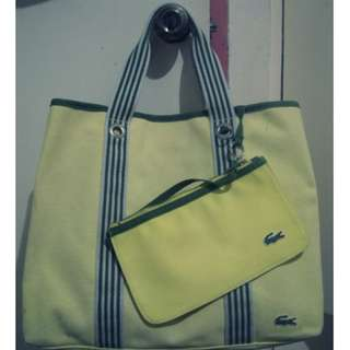 Lacoste large tote bag with pouch
