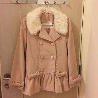 Liz Lisa 粉紅色毛領大衣