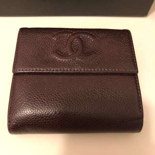 Chanel back to back wallet col.bordo