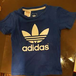 Authentic Adidas Trefoil Tee T Shirt 2T