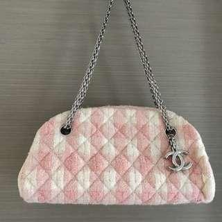 🈹超平保證正品Chanel 粉紅格仔手袋
