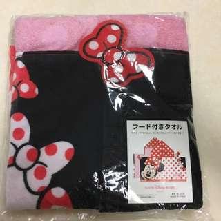 🚚 日本東京迪士尼 米妮浴巾 斗篷