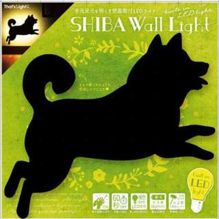 【預購】日本   柴犬(496489):LED!自動感應60秒*影子造型壁燈(包裝尺寸:21×2.7×24厘米/3節AAA電池)_免運。