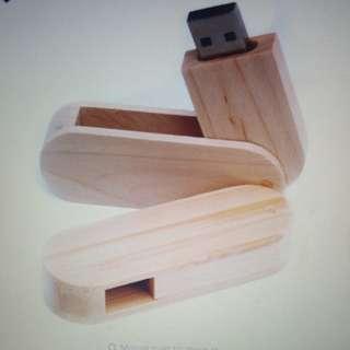 2 per set Wood USB memory stick