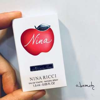 100%🆕&REAL• 包郵• Nina Ricci 2款香水(噴霧)版 Perfume Spray Sample 1.5ml x 2