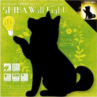 【預購】日本   柴犬(496490):LED!自動感應60秒*影子造型壁燈(包裝尺寸:21×2.7×24厘米/3節AAA電池)_免運。