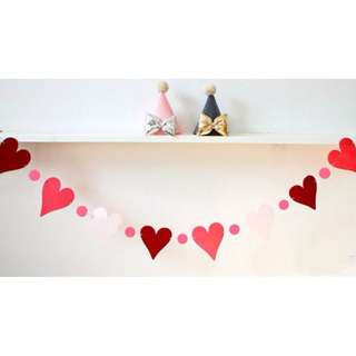 Lovely Heart Bunting Garland