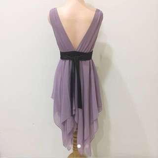 Purple V Dress