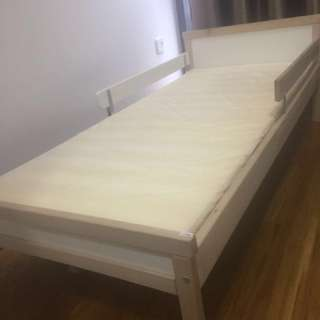IKEA kids bed frame, matress, play ground, doll
