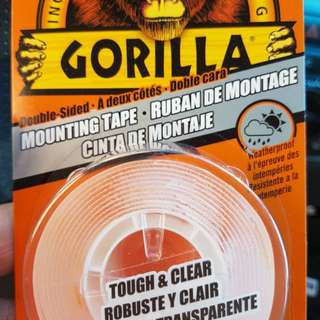 Clear gorilla mounting tape