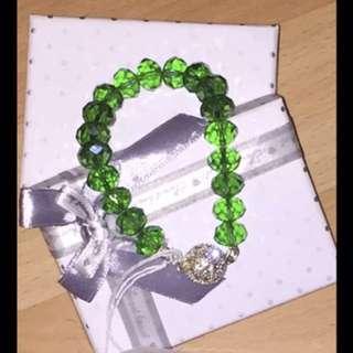 Handmade beaded crystal bracelet