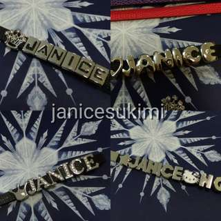 Christmas gift ! Customize name tag / key chain / wristband