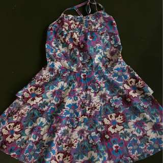 10-12 years old girls Brand new floral halter dress