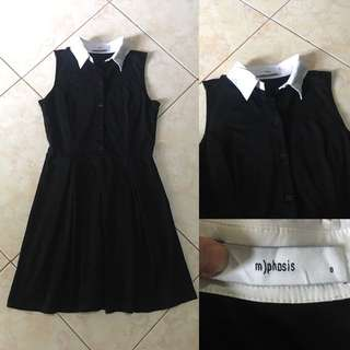 MYPHOSIS Black Collared Dress