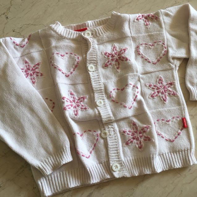 2-4Y Esprit White Sweater