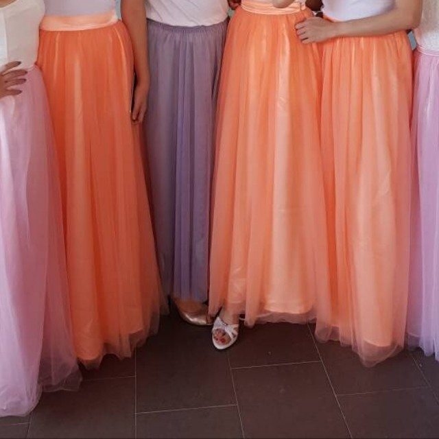 3 layer Tulle Bridesmaids Skirts