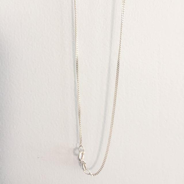 45cm Sterling Silver 45cm Curb Chain