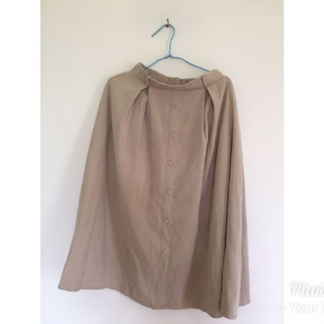 韓國流行排扣裙