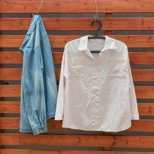 類似款慧喬太陽的後裔🌞粉色雙口袋薄上衣