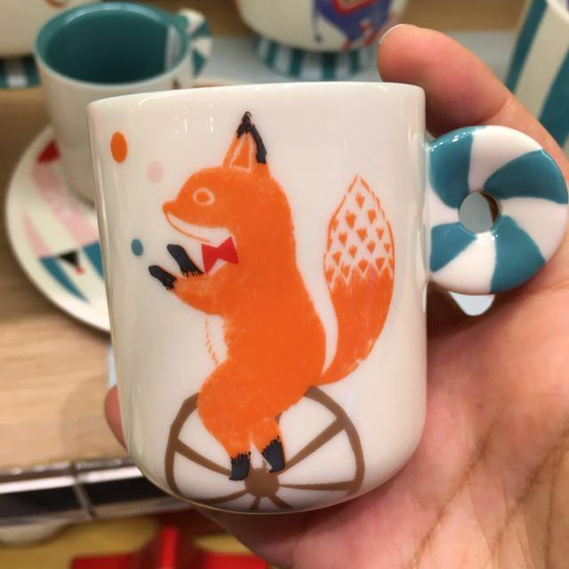 上海星巴克聖誕節系列🎄馬戲團狐狸咖啡杯馬克杯