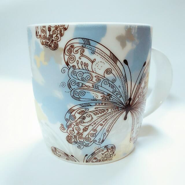 彩色渲染蝴蝶杯 #銅板好物