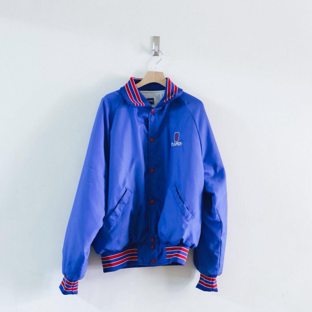日本 古著 VINTAGE / 美國製 刺繡 芝加哥大學 教練外套 coach jacket
