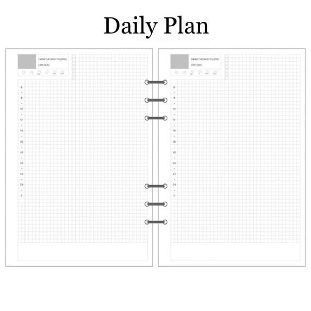 image regarding Diy Planner Pages named A5/A6 Filofax Do it yourself Planner Refill Internet pages, Publications Stationery