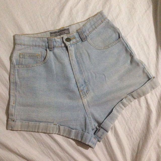 American apparel highwaist short
