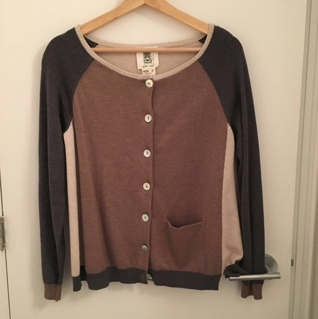 Anthropologie Color Block Cardigan Size Small