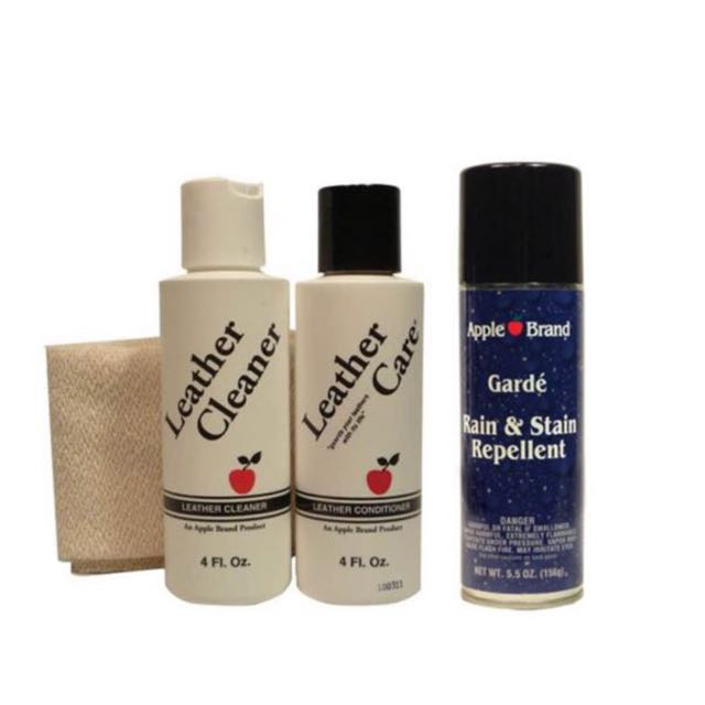 Apple Brand Leather Care Kit Cleaner & Conditioner Set