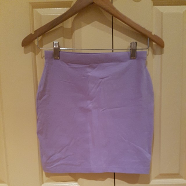 Asos lilac bodycon skirt