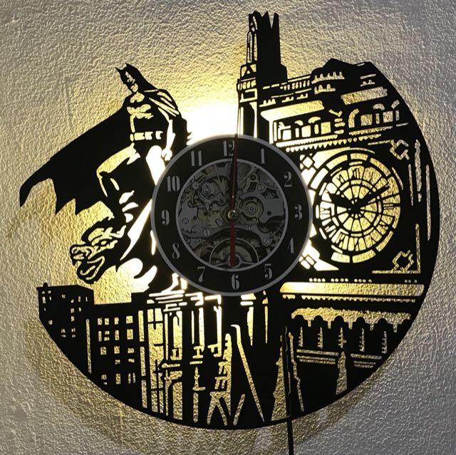 Batman Vinyl Record Wall Lamp
