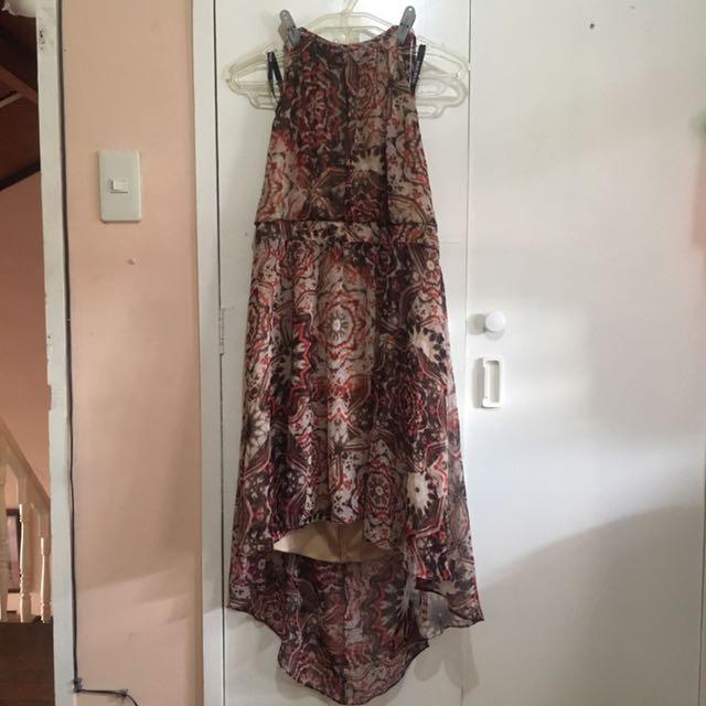 Bisou Bisou halter dress US size 12