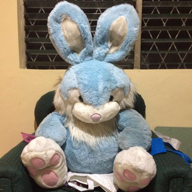 Bluish White big Bunny Stuffed Toy