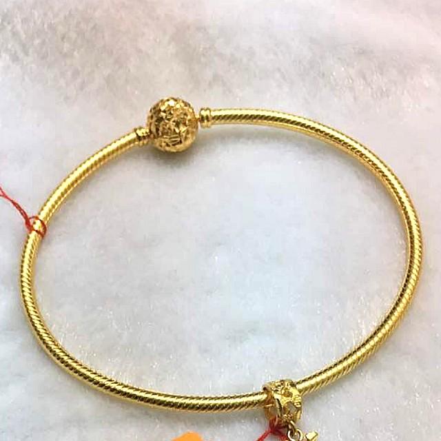 gold pandora bangle