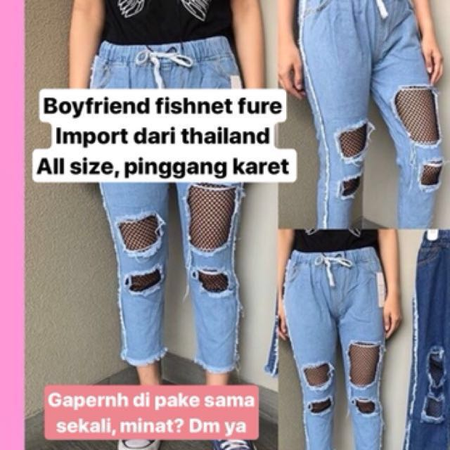 Boyfriend fishnet fure