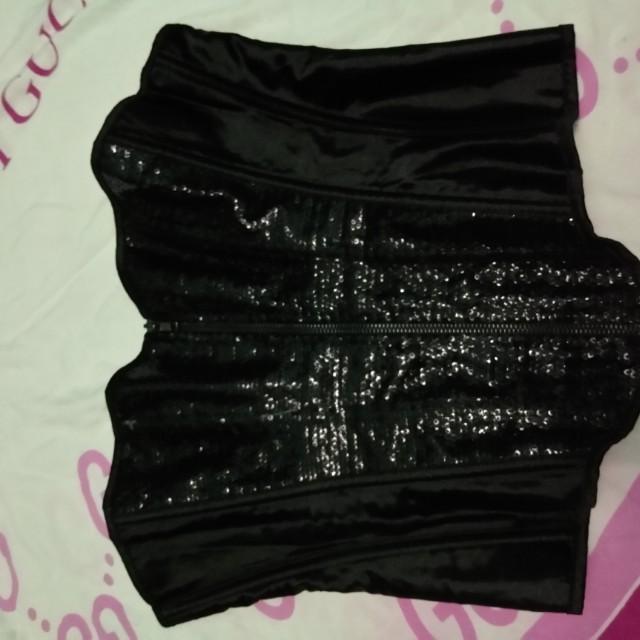 Bustier black sequin